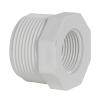 "1-1/4"" MNPT x 3/4"" FNPT Schedule 40 White PVC Threaded Reducing Bushing"