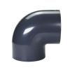 "6"" Schedule 40 Gray PVC Socket 90° Elbow"