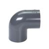 "1"" Schedule 40 Gray PVC Socket 90° Elbow"