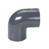 "1-1/4"" Schedule 40 Gray PVC Socket 90° Elbow"