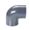 "2-1/2"" Schedule 40 Gray PVC Socket 90° Elbow"