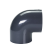 "4"" Schedule 40 Gray PVC Socket 90° Elbow"