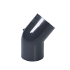 "1/2"" Schedule 40 Gray PVC Socket 45° Elbow"