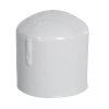 "1"" Schedule 40 White PVC Socket Cap"