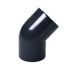 "1-1/2"" Schedule 40 Gray PVC Socket 45° Elbow"
