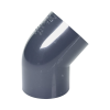 "2-1/2"" Schedule 40 Gray PVC Socket 45° Elbow"