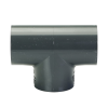 "1-1/2"" Schedule 40 Gray PVC Socket Tee"