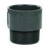 "3"" Schedule 40 Gray PVC MIPT x Socket Male Adapter"