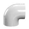 "4"" Schedule 40 White PVC Socket 90° Elbow"