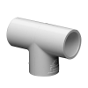 "3/4"" Schedule 40 White PVC Socket Tee"