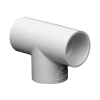 "1-1/2"" Schedule 40 White PVC Socket Tee"