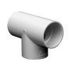 "2-1/2"" Schedule 40 White PVC Socket Tee"