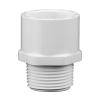 "1"" Schedule 40 White PVC MIPT x Socket Male Adapter"