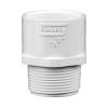 "1-1/4"" Schedule 40 White PVC MIPT x Socket Male Adapter"