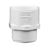 "1-1/2"" Schedule 40 White PVC MIPT x Socket Male Adapter"