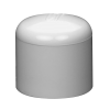 "1"" Schedule 40 White PVC Socket Cap"