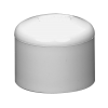 "1-1/2"" Schedule 40 White PVC Socket Cap"