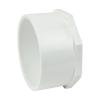 "4"" Schedule 40 White PVC Spigot Plug"