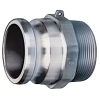 "1/2"" Male Adapter x 1/2"" Male NPT Aluminum Coupling"