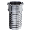 """1"""" Tri-Clamp x 1"""" Hose Stainless Steel Sanitary Crimp Fitting"""