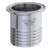 """2"""" Tri-Clamp x 2"""" Hose Stainless Steel Sanitary Hose Adapter"""