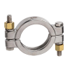 "1-1/2"" Stainless Steel Sanitary Double Bolted Clamp"