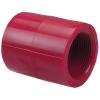 """1/2"""" Chemtrol® Red Kynar® PVDF Schedule 80 Threaded Coupling"""