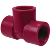 "1-1/2"" Chemtrol® Red Kynar® PVDF Schedule 80 Threaded Tee"