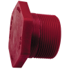 "1/2"" Chemtrol® Red Kynar® PVDF Schedule 80 Threaded Hex Plug"