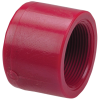 "1-1/2"" Chemtrol® Red Kynar® PVDF Schedule 80 Threaded Cap"