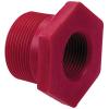 "3/4"" MPT x 1/2"" FPT Chemtrol® Red Kynar® PVDF Schedule 80 Threaded Reducer Bushing"