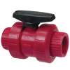 "1/2"" Chemtrol® Tru-Bloc® True Union Red Kynar® PVDF Ball Valve"