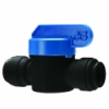 "1/4"" Tube OD Speedfit® Black Polypropylene Shut-Off Valve"