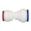 "5/16"" Tube OD x 1/4"" Tube OD Polypropylene Reducing Union Tube Fitting"