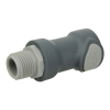 "1/2"" NPT Polypropylene Non-Spill Coupling Body (Insert Sold Separately)"