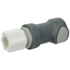 "1/2"" OD x 3/8"" ID In-line Ferruless Polypropylene Non-Spill Compression Body (Insert Sold Separately)"