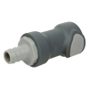 """1/2"""" ID In-Line Hose Barb Polypropylene Non-Spill Body (Insert Sold Separately)"""