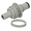 "1/2"" ID Panel Mount Polypropylene Non-Spill Hose Barb Insert (Body Sold Separately)"