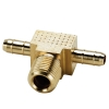 ".170""ID Tube X 1/8""MNPT Dubl-Barb® Brass Male Branch Tee"