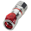 "3/8"" ID x 1/2"" OD Compression Nut Chrome Plated Brass Valve Body - Red (Insert Sold Separately)"