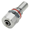 "3/8"" ID x 1/2"" OD Compression Nut Chrome Plated Brass Valve Insert - Red (Body Sold Separately)"