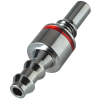 "1/4"" Hose Barb LQ2 Chrome-Plated Brass Locking Valve Insert - Red"
