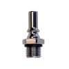 1/4 SAE-04 LQ2 Chrome-Plated Brass Valved Insert - Red (Body Sold Separately)