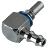 "1/4"" Hose Barb LQ2 Chrome-Plated Brass Locking Elbow Valved Insert - Blue (Body Sold Separately)"