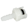 "1/8"" Hose Barb Acetal In-Line Coupling Insert - Straight Thru (Body Sold Separately)"