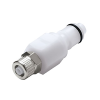 "1/4"" In-Line Ferruless PLC Series Acetal Insert - Shutoff (Body Sold Separately)"