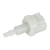 3mm Hose Barb Acetal In-Line Coupling Body - Shutoff (Insert Sold Separately)