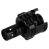 "1/16"" Hose Barb Acetal Black In-Line Insert - Straight Thru (Body Sold Separately)"