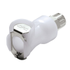 "1/4"" In-Line Ferruless PLC Series Acetal Body - Straight Thru (Insert Sold Separately)"