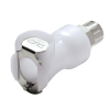 "1/4"" In-Line Ferruless PLC Series Acetal Body - Shutoff (Insert Sold Separately)"